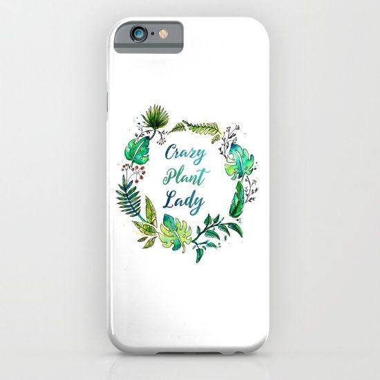 Crazy Plant Lady iPhone & iPod Case by Erika Biro | Society6