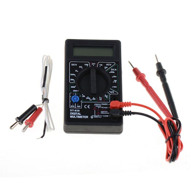 1 PC New DT-838 Digital Multimeter Volt/ Amp/Ohm/Temperature Meter Vehicle Voltage Tester Tools VEJ40 P20