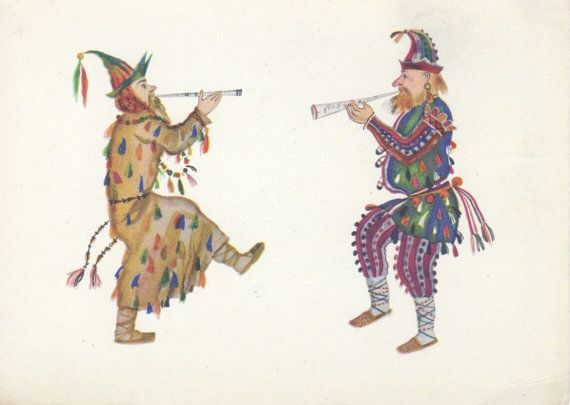 V. Ryndin Skomorokhs. Sketch of the costumes by RussianSoulVintage