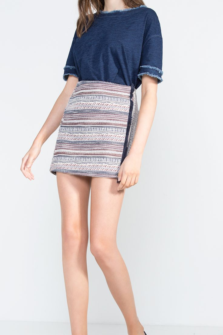 Cortefiel - Mini falda jacquard