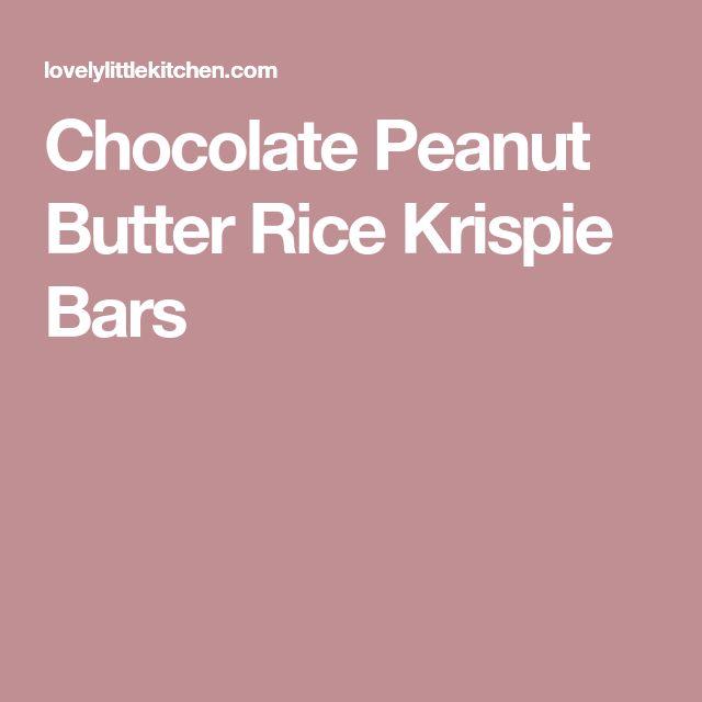 Chocolate Peanut Butter Rice Krispie Bars