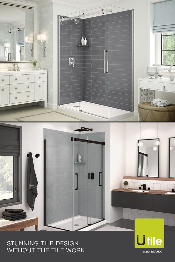 With our Utile shower wall panels, you can have the tiled ...