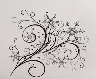 Snowflake Flow 2 - Wall Decal Vinyl Decor Art Modern Removable Sticker Mural uBer Decals A550 on Etsy, $16.98