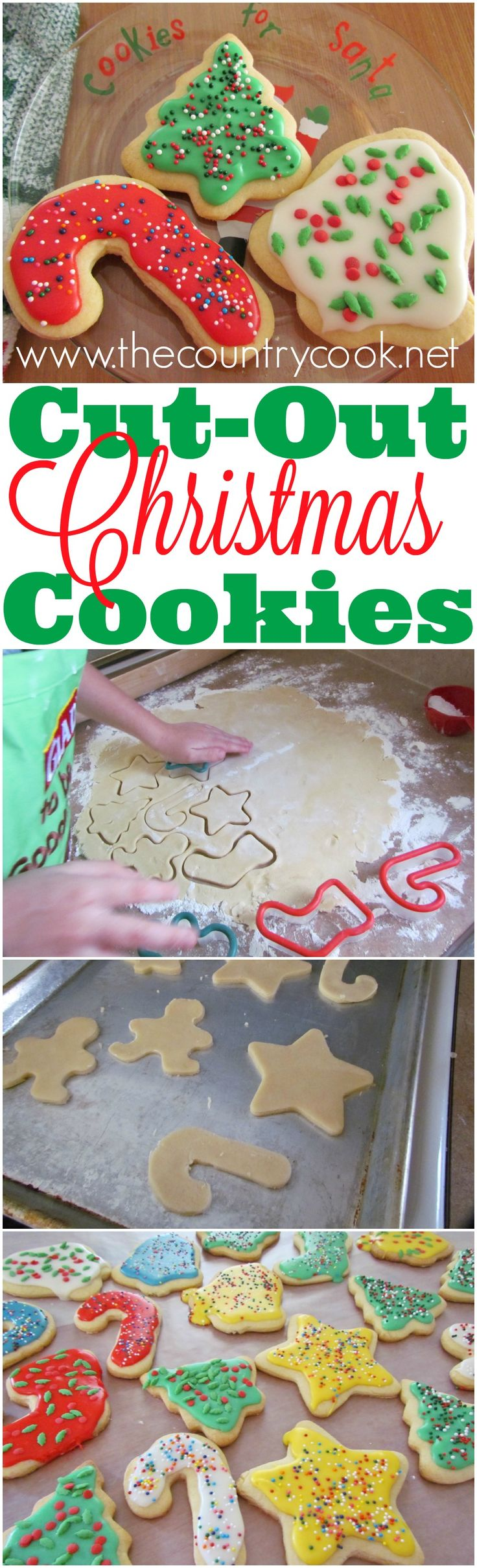 Fail-Proof Cut-Out Sugar Cookies and simple icing recipe from The Country Cook