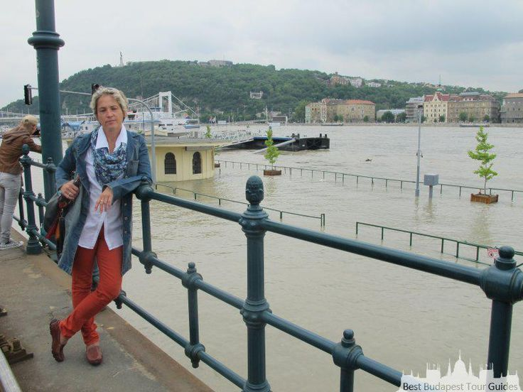 Eva in Budapest, when the Danube was high!