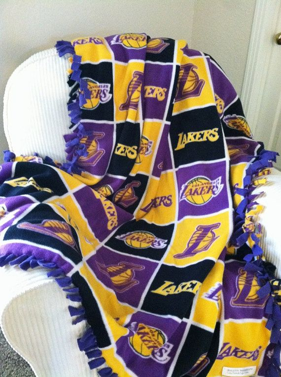 NBA Los Angeles Lakers Block Blanket  by RolanisWonderland on Etsy, $22.00