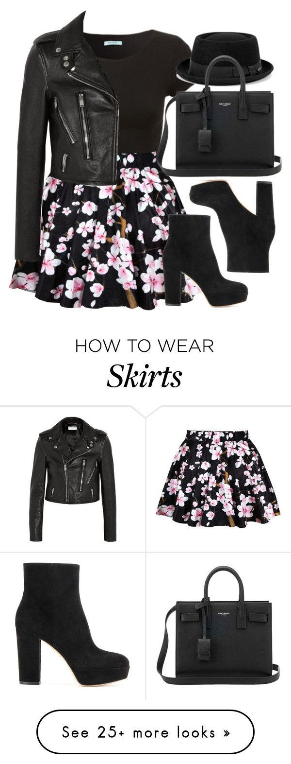 """""""Style #11372"""" by vany-alvarado on Polyvore featuring Yves Saint Laurent and Gianvito Rossi"""