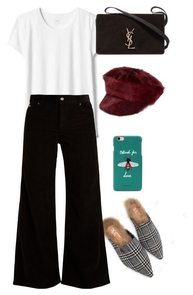 """Untitled #699"" by szudi on Polyvore featuring Gap, Eve Denim, Yves Saint Laurent, Prada and Gucci"
