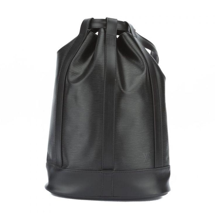 Louis Vuitton Black Epi Randonnee PM Bag #112180-