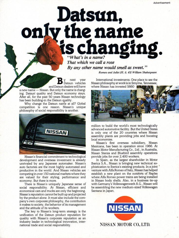 1983 Datsun Nissan 280Z Nissan Motor Company 50 Years 1933-1983 Page 12 Aussie Original Magazine Advertisement