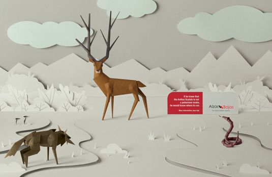 This beautiful print ad was developed by JWT, Buenos Aires for Argentinian magazine Alzas Bajas.