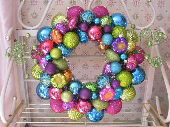 Spring Ornament Wreath Easter ornament by MimisVintageGoodies, $100.00