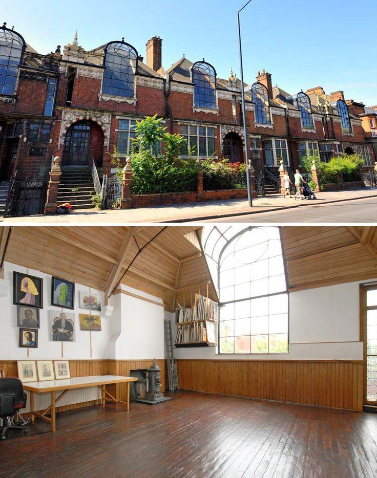 Talgarth Road art studios, London. Built in 1891