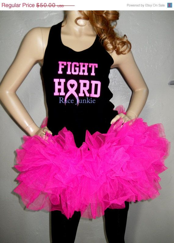 Memorial Day Savings Breast Cancer Awareness Tutu by RaceJunkie, $47.50