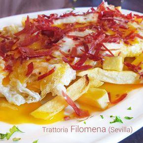Esta receta de Huevos Filomena es una de las especialidades de la Trattoría Filomena en Sevilla. Comparten con nosotros los secretos de este plato.