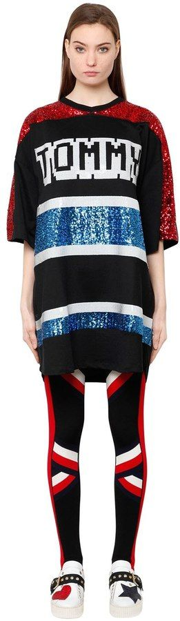 Tiger Sequined Oversized Knit Dress