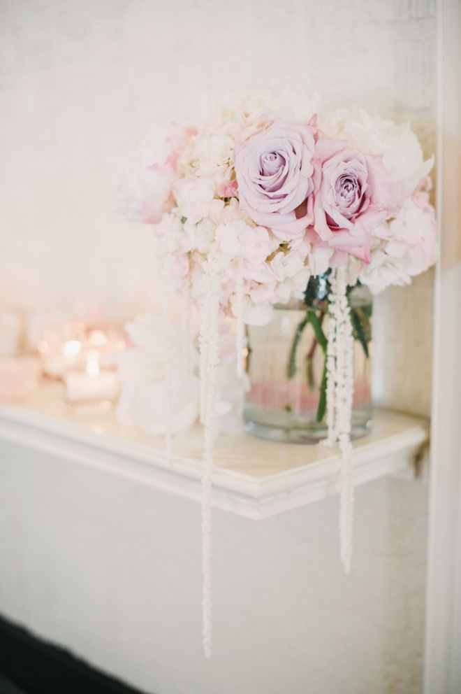 Something sweet & dreamy about the palest roses.