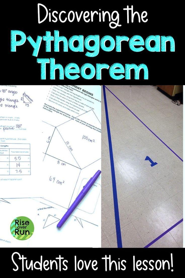 Pythagorean Theorem Lesson Activity Lesson Algebra Resources Middle School Math [ 1104 x 736 Pixel ]