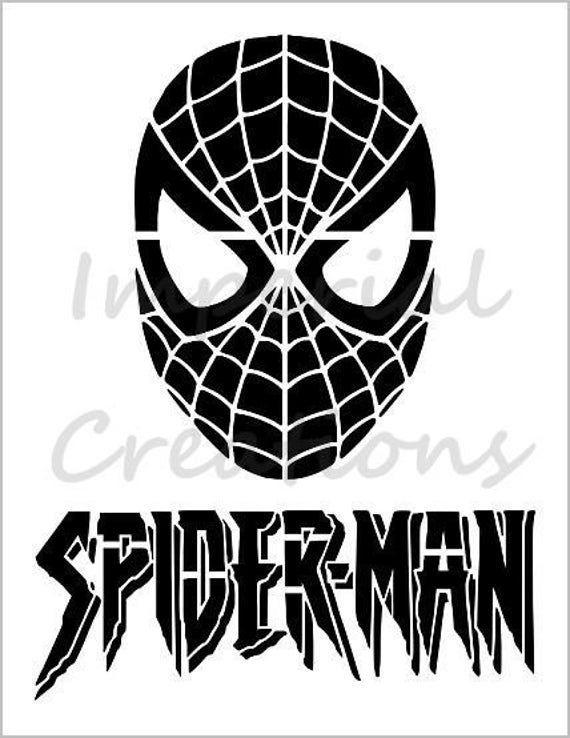 Spiderman Mask Superhero Comic Cartoon 8 5 X 11 Stencil Sheet New S353 Spiderman Mask Superhero Coloring Superhero Wall Art