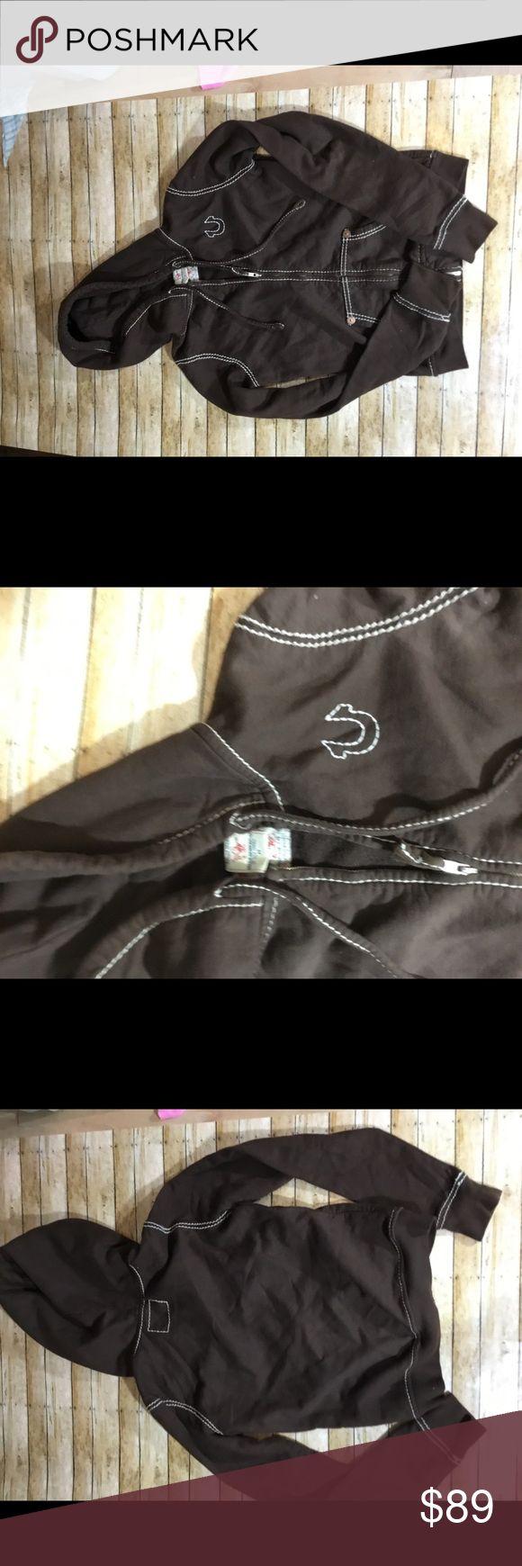 True Religion Brown Zip Up Hoodie True Religion Brown Zip Up Hoodie True Religion Tops Sweatshirts & Hoodies