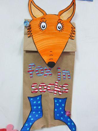 Fox In Socks Craft Template