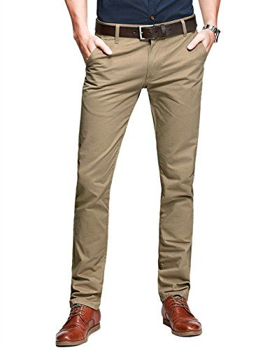 Match Mens Slim-Tapered Flat-Front Casual Pants(Light kha....amazon.com