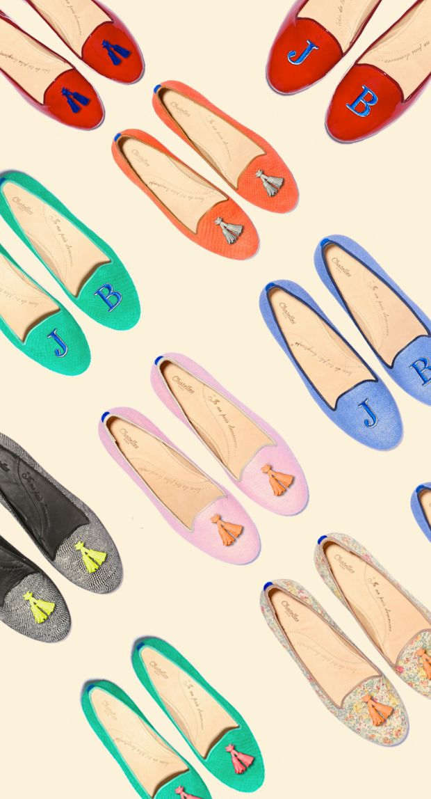 customizable French flats: Chatelles. - Grid