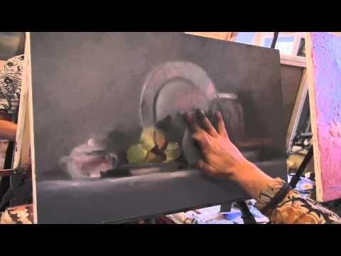 Натюрмотр с виноградом Урок живописи ,Игорь Сахаров 162 - YouTube