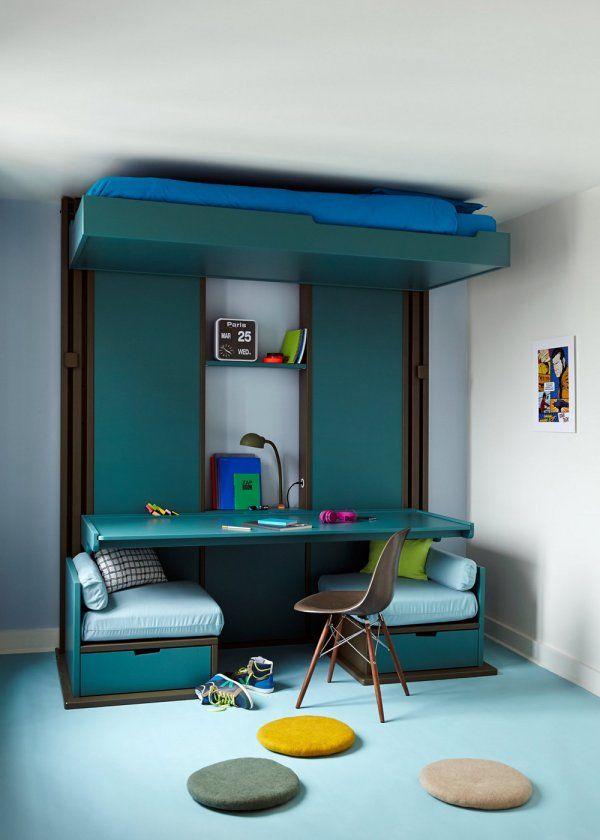 Am nager une petite chambre avec rangements recherche for Amenager une chambre