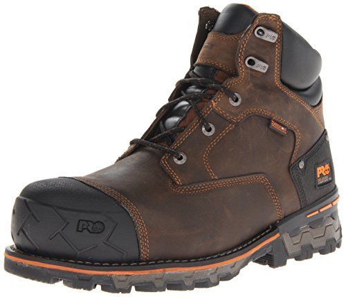 Timberland PRO Men's Boondock 6 Inch Waterproof Non-Insulated Work  Boot,Brown Oiled Distressed