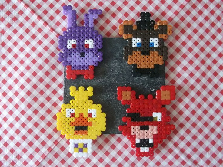 Five Nights At Freddy's- Animatronics- Hama beads by Dogtorwho