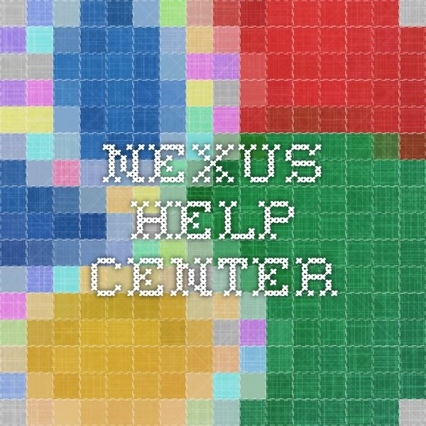 Nexus Help Center