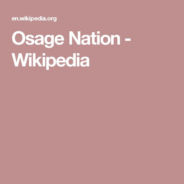 Osage Nation - Wikipedia
