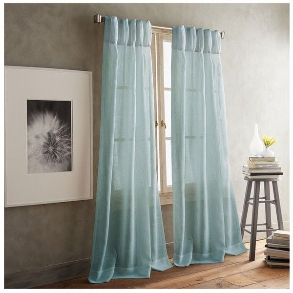 Dkny Paradox Inverted Pleat Back Tab Set Of 2 Window Panels (£33) ❤ liked on Polyvore featuring home, home decor, window treatments, curtains, aqua, pair curtains, pleated sheer curtains, dkny curtains, pleated draperies and aqua curtain panels