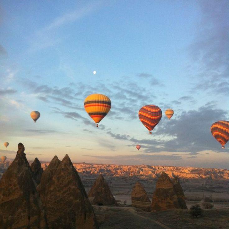 hot-air-balloon flight in cappadocia, turkey.  someday i WILL do this.