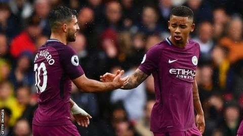 Aguero and Jesus have scored nine times between them in the Premier League this season  There is a new prolific Premier League strike partnership on the prowl.  Manchester  City's free-scoring front men have started the season brilliantly - but  how do they compare to the deadliest partnerships in the history of the  league? In contrast teams in London cannot find the net while  the weekend games suggested that possession does not necessarily equal  points. BBC Sport analyses the most…