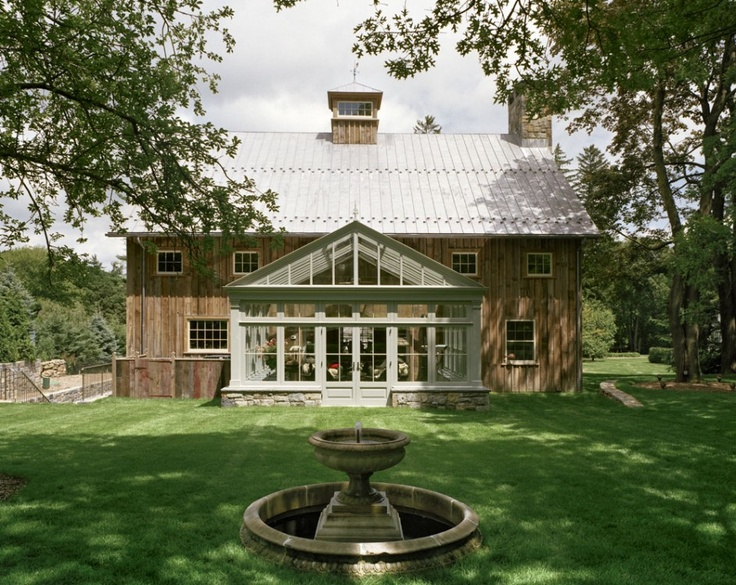 Tin roof, attached greenhouse, and wood siding. @Steven Trotter Kerr isn't this the perfect home? =O