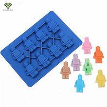 1 PCS 3D Soldado Lego Cubo de Gelo Molde de Silicone Bolo Fondant Silicone Sabão Molde Do Bolo Decoração Fondant de Chocolate Molde de Alimentos grau(China (Mainland))