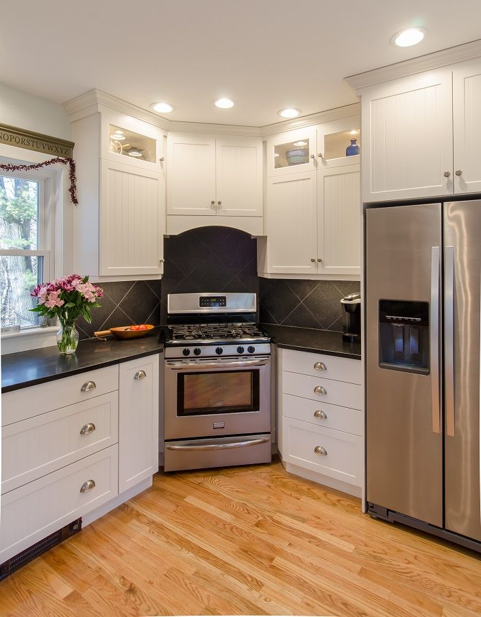 Paint kitchen white painted kitchen cabinets with honed for White kitchen cabinets white appliances