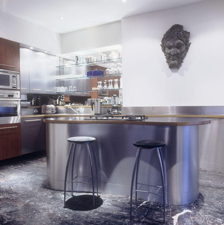 Blue Modern Kitchen   Cool Kitchen Ideas   Photos Amazing Design