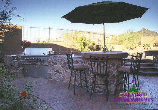 Your backyard deck or patio should be an extension of your home. In Phoenix, you and your family can enjoy a deck year 'round! It should be a space that's as livable as any of your indoor rooms! Whether you're looking for a quiet, romantic area to enjoy your evenings or a place to entertain friends, we will work with you to design a backyard space that suits your needs.