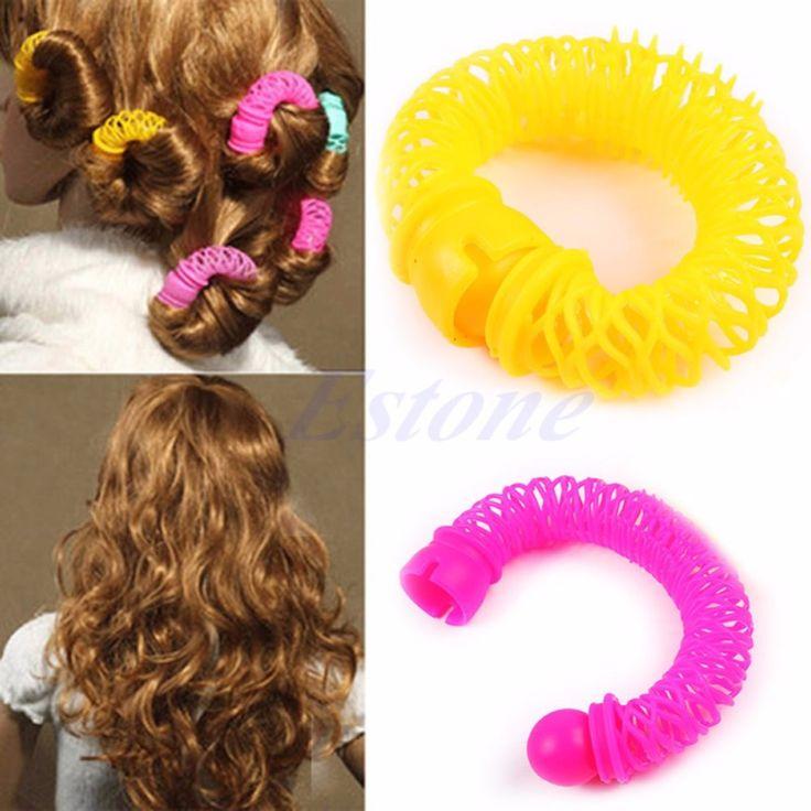 U119 6pcs 8pcs Hairdress Magic Bendy Hair Styling Roller Curler Spiral Curls DIY Tool