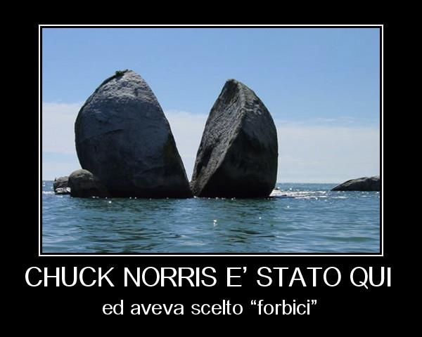 Chuck Norris was here..  ..and he chose scissors.. :-)