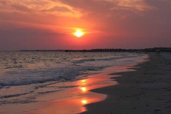 Sunset at Mexico Beach, Florida