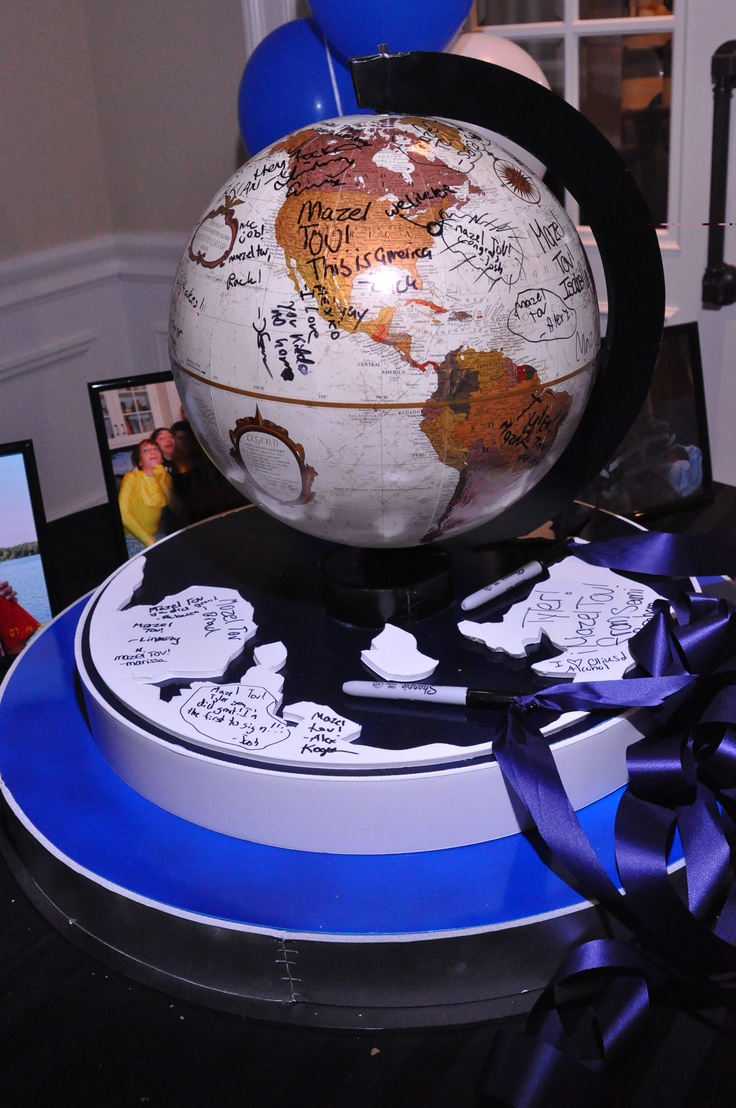 Bar mitzvah decor south florida mitzvah production by 84 west events - World Tour Theme Bar Mitzvah Globe Sign In The Event Of A Lifetime Inc