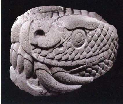 Aztec serpent head, 1250-1521 A.D. || Museo Nacional de Antropologia, Mexico City