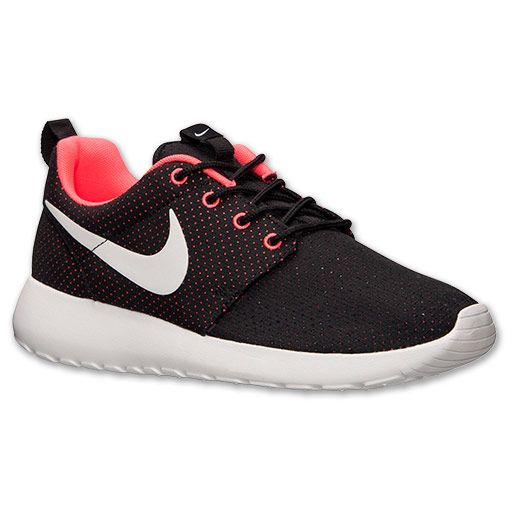 nike sportswear roshe run - baskets basses - black/white/hyper punch