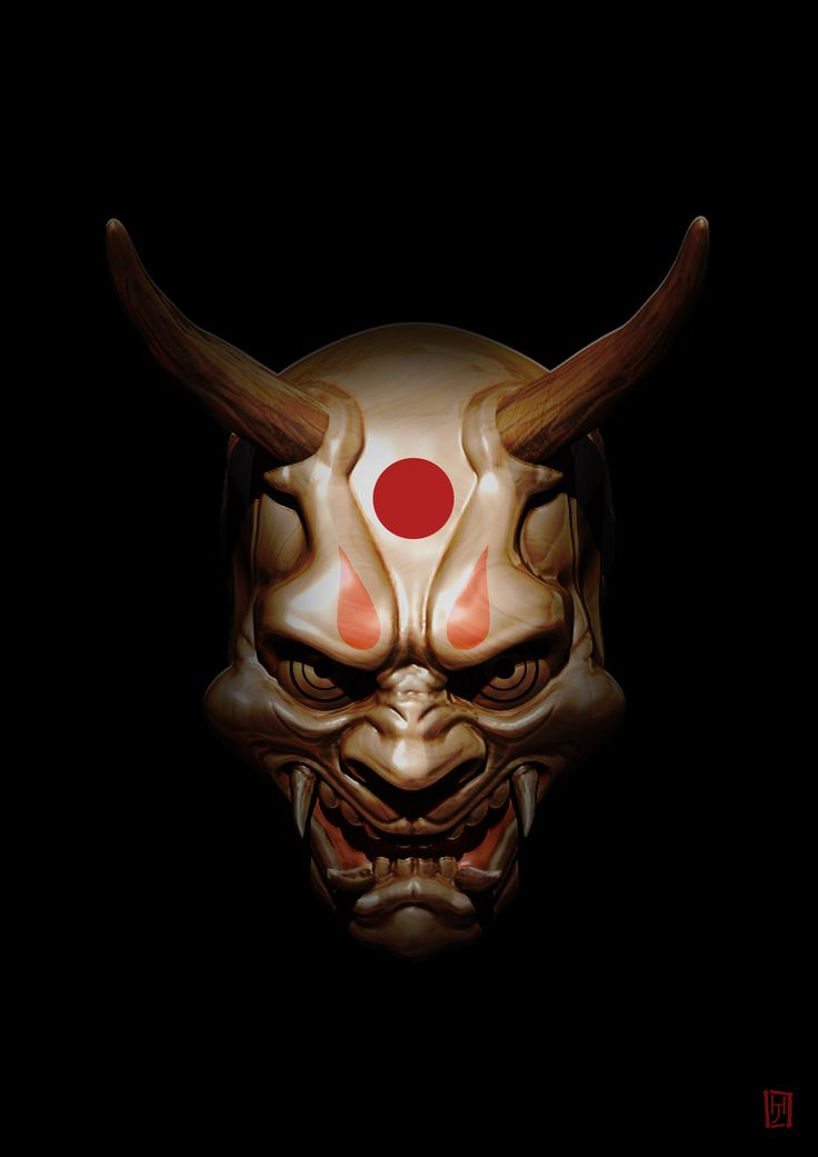 Oni Mask, Jérôme huvelle on ArtStation at https://www.artstation.com/artwork/Bv1xm