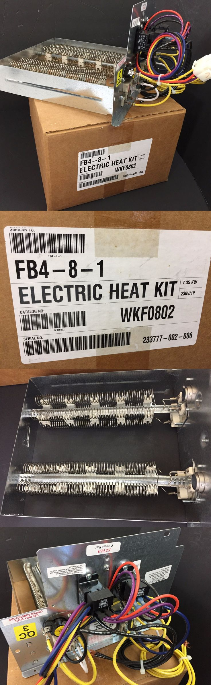 Heat recovery ventilator ebay - Furnaces And Heating Systems 41987 Warren Wkf0802 7 35 Kw Electric Heater Kit Heat Strip