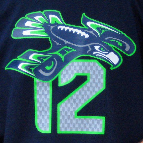 Seattle Seahawks '12 Hawk' Unisex Hooded by emeraldcitystyle